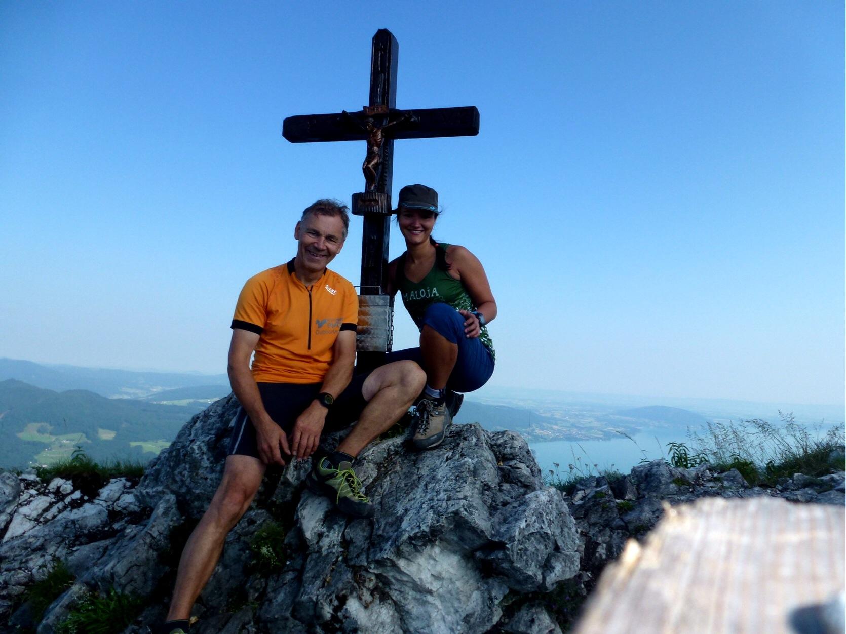 Klettersteig Mahdlgupf : Attersee klettersteig bergsteigen